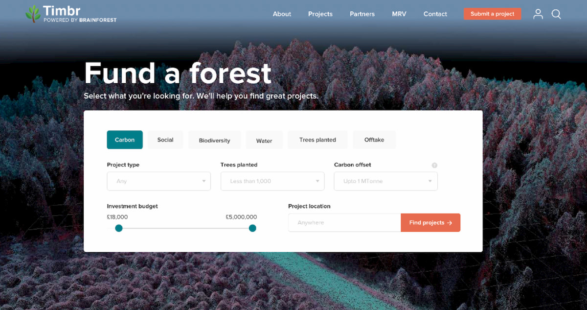 Environmental leadership – how we built a tool to connect investors to sustainability projects